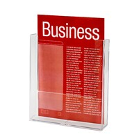 Brochure Holder A4 1 compartment W230 wall Taymar - each
