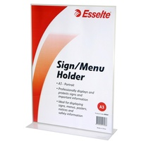 Sign Menu Holder A3 Esselte Double Sided Portrait 48364 2 SIDED