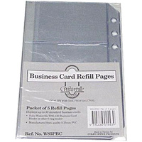 Business Card Book A5 W85 Refill Pages W85PBC - pack 5