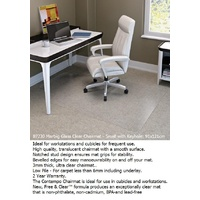 Chairmat Marbig Key Hole Heavy Duty Glass Clear 91 x 121 87230 - Low Pile - For carpet less than 6mm including underlay.