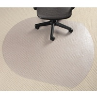 Chairmat Marbig Glass Clear Contempo 99x124cm Carpet less than 6mm 87240 - each