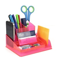 Desk Tidy Organiser Italplast I35 Neon Red