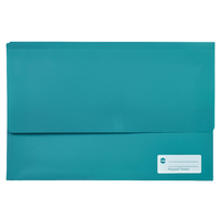 Document Wallet FC Polypick Marbig 2011004 Green Teal Foolscap
