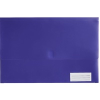 Document Wallet FC Polypick Marbig 2011019 Purple Foolscap