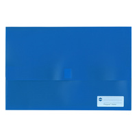Document Wallet FC Polypick Marbig 2011001 Blue  Foolscap
