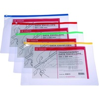 Clear Case B4 395x290mm Clear With Zip 43911 Esselte assorted colours Data Envelopes