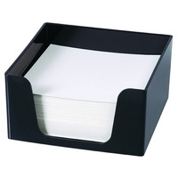 Memo Cube Holder Esselte Black With 500 Blank Sheets 45894