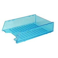 Desk Tray Italplast Multi Fit I60 Neon Blue