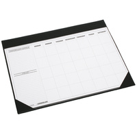Desk Mat OM1002 PVC With Calendar and Clear Cover 455x580mm Black