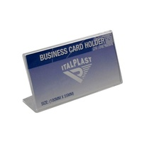 Business Card Stand Slanted 55x100mm Landscape Italplast I570 Clear
