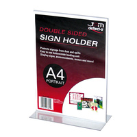 Sign Holder A4 Portrait Stand Up Deflecto 47801