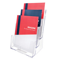 Brochure Holder A4 3 slot 77301 Deflecto