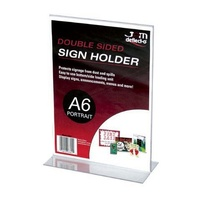 Stand Up Sign Holder Portrait A6 Deflecto 69001