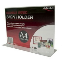 Deflecto A4 Landscape Stand Up Sign Holder 47701