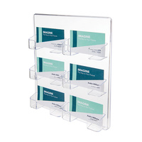Business Card holder 6 pocket wall mount Deflecto 70601 216x248x38mm