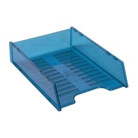 Desk Tray Italplast Multi Fit I60 Tinted Blue