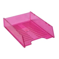 Document Tray Italplast Multi Fit I60 Tinted Pink