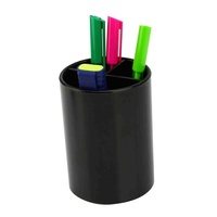 Pencil Cup Black Pen Holder Heavy Duty I414 Italplast 77x107mm high