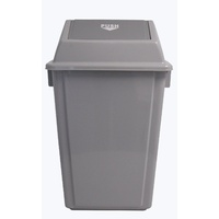 Swing Top Bin 58 Litre I183 GREY 335 (L) x 465 (W) x 755 (H) - each
