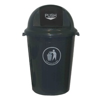 Swing Top Bin 80 Litre Heavy Duty Italplast I457 Grey - each