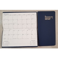 Diary Planner 2021 2022 11W B6/7 MONTH TO VIEW 2 year BLUE 11WV5920 91x182mm closed