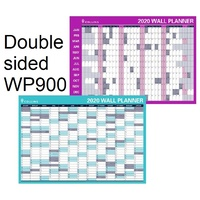 Year Planner 2019 Laminated Roll Up 700x900mm WP900D Collins  ** rolls up * 2 sided