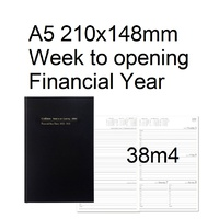 Diary Financial A53 21/22 38M4 A5 week to opening Black Collins 210x148