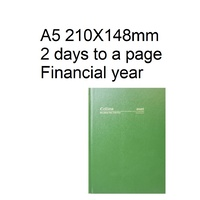 Diary Financial A52 21/22 28M4 A5 2 Days To Page Green Collins 210x148