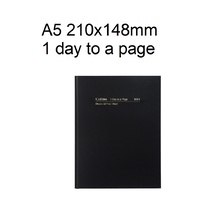 Diary Financial A51 20/21 18M4 A5 day to page BLACK Collins 210x148