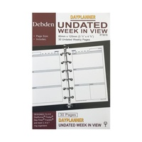 DayPlanner KT3016 Weekly Non Dated refill Pocket Organiser