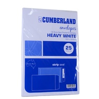 Envelope 324x229 C4 [PnS] White 100gsm box  25 Cumberland 912333 Strip Peel and Seal