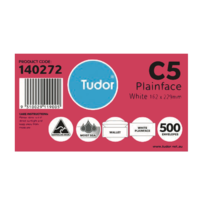 Envelope 162x229 C5 [LnS] box 500 Tudor 140272 White Moist seal