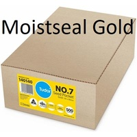 Seed pocket envelopes 145x90mm no 7 Gold-Kraft Tudor 140140 box 500 15047 Plainface Moistseal Gold