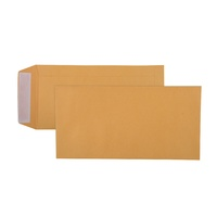 Envelope 235x120 DLX [PnS] Box 500 Cumberland 605322 Gold Strip Peel and Seal