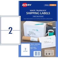 Labels  2up InkJet J8168 936021  White Permanent box 25 Avery