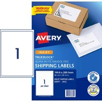 Labels  1up InkJet J8167 Avery 936035 box 50 White Permanent