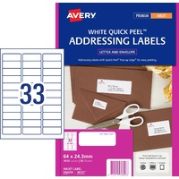Labels 33up InkJet J8157 White 936058 box 50 Permanent Avery
