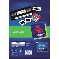 Labels for Slides InkJet J8657 (35mm) 42 sheet 46x11.11mm Avery 936033 - pack 25