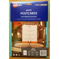 Cards Multi-Purpose Laser inkjet Matt White Avery 947004 pack 25 L7421