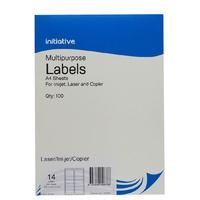 Labels 14up Laser Inkjet Copier 99x38 Initiative L7163 7069904 Multi Use Permanent box 100 sheets 1400 white labels