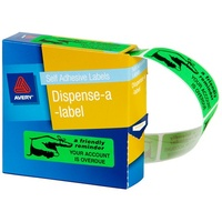 Label dispenser box message Friendly Notice 19x64 - roll 125
