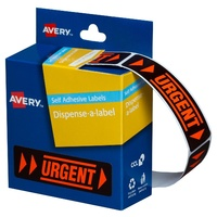 Label dispenser box message Urgent 19x63 Avery 937251 roll 125