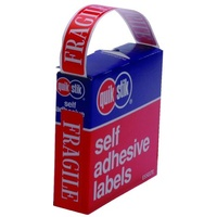 Label dispenser box message Fragile Quik Stik MR1663