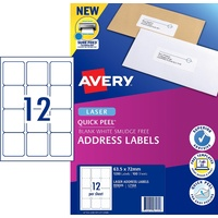 Labels 12up Laser L7164 White Avery 959005 box 100
