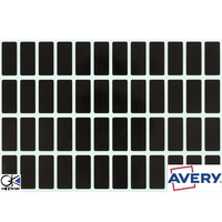 Labels Block Colour Black 19x42mm Avery 44540 Pack 240