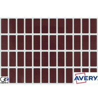 Labels Block Colour Brown 19x42mm Avery 44541 Pack 240