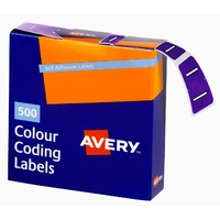 Labels Side Tab Letter I box 500 Avery 43209 25x38mm Colour Coding