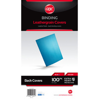 Binding Covers 300gsm Leathergrain Ibico Blue  Pack 100 BCL300BL100