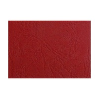 Binding Covers 300gsm Leathergrain Ibico Red Pack 100 BCL300R100