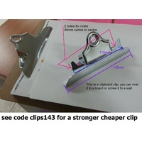 Clipboard Clips 145mm Old Style board clips